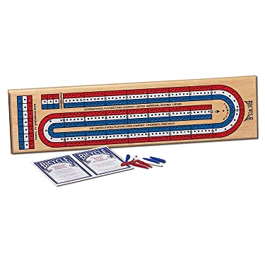 Bicycle 3-Track Color Coded Wooden Cribbage Game