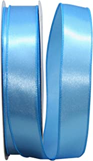 Reliant Ribbon Satin Value Wired Edge Ribbon, 1-1/2 Inch X 50 Yards, Light Blue