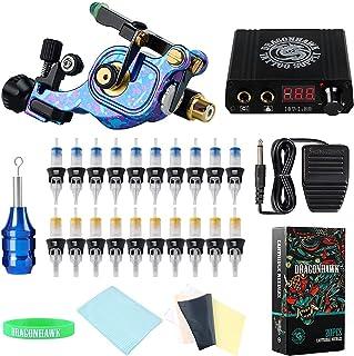 Complete Rotary Tattoo Machine Gun Kit Direct Drive Coreless Motor Tattoo Machine met LED-display Voeding Cartridge Naalde...