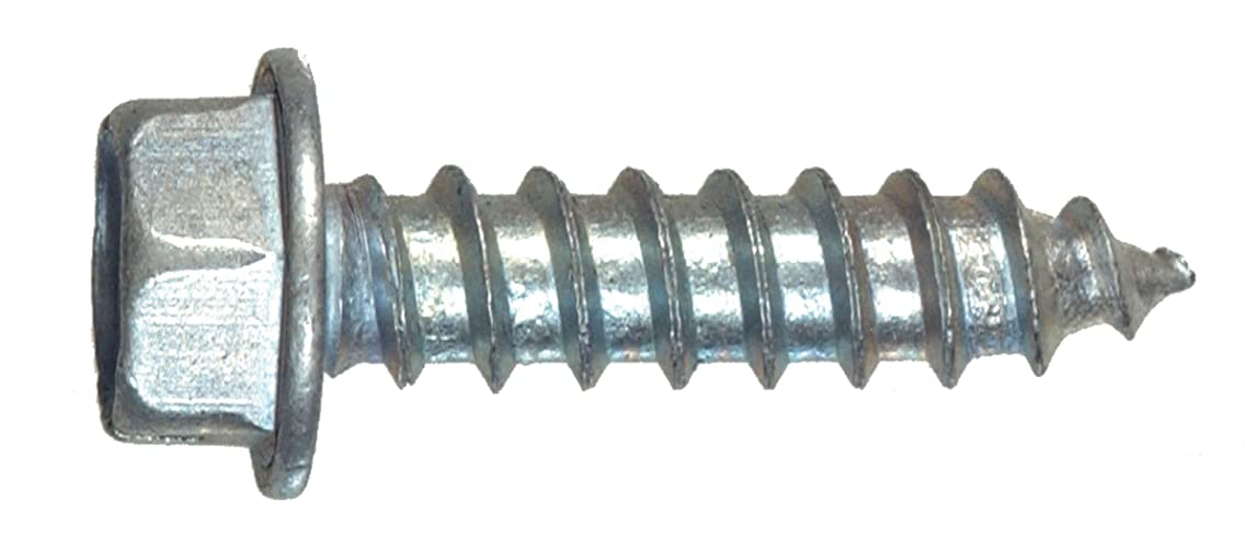 The Hillman Group 35113 Hex Washer Head Sheet Metal Screw 12 x 1 50-Pack