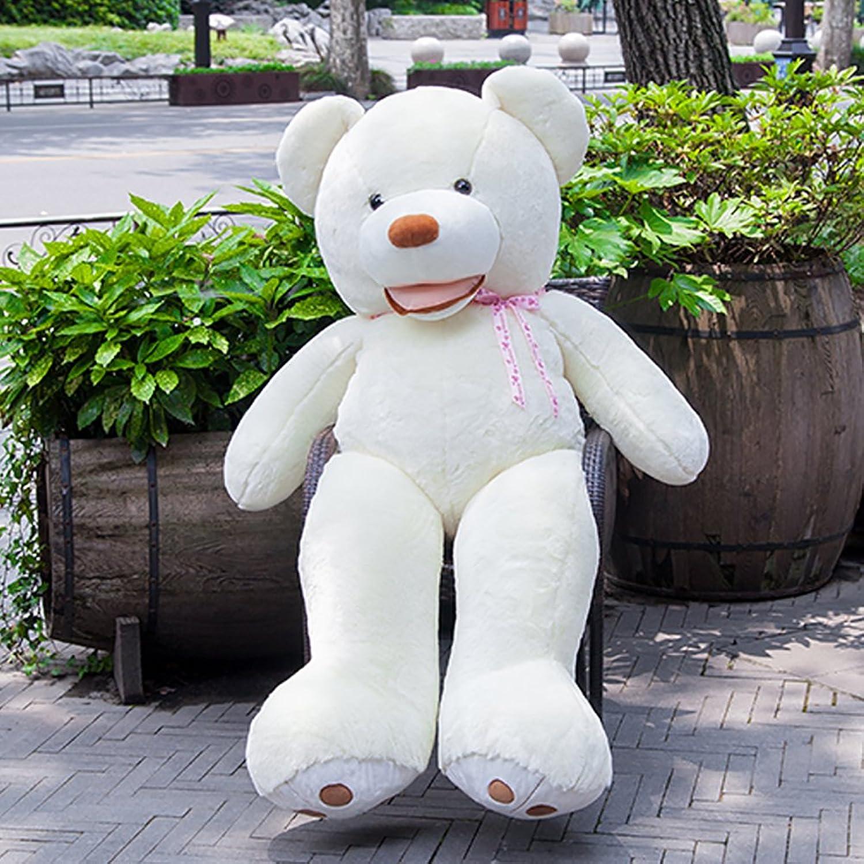 VERCART Teddybr Plüsch Br Riesigen Weichen groen Teddy Plüschtier Geschenk für Freund und Kind Geburtstagsgeschenk Wei 200cm