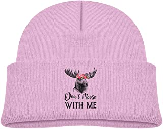 Qiop Nee Don't Moose with Me Beanie Caps Knit Hats Baby Boy