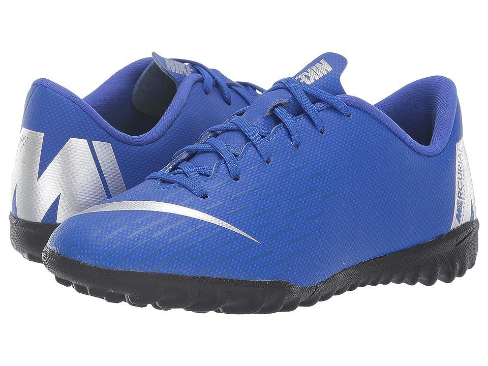 Nike Kids VaporX 12 Academy TF Soccer (Toddler/Little Kid/Big Kid) (Racer Blue/Metallic Silver/Black/Volt) Kids Shoes