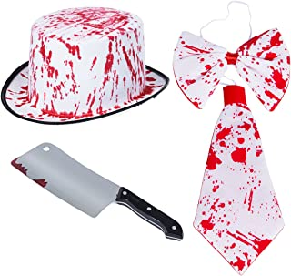 Tigerdoe Bloody Costumes - Halloween Costume for Adults - 4 Pc - Scary Costumes - Butcher Costume Knife