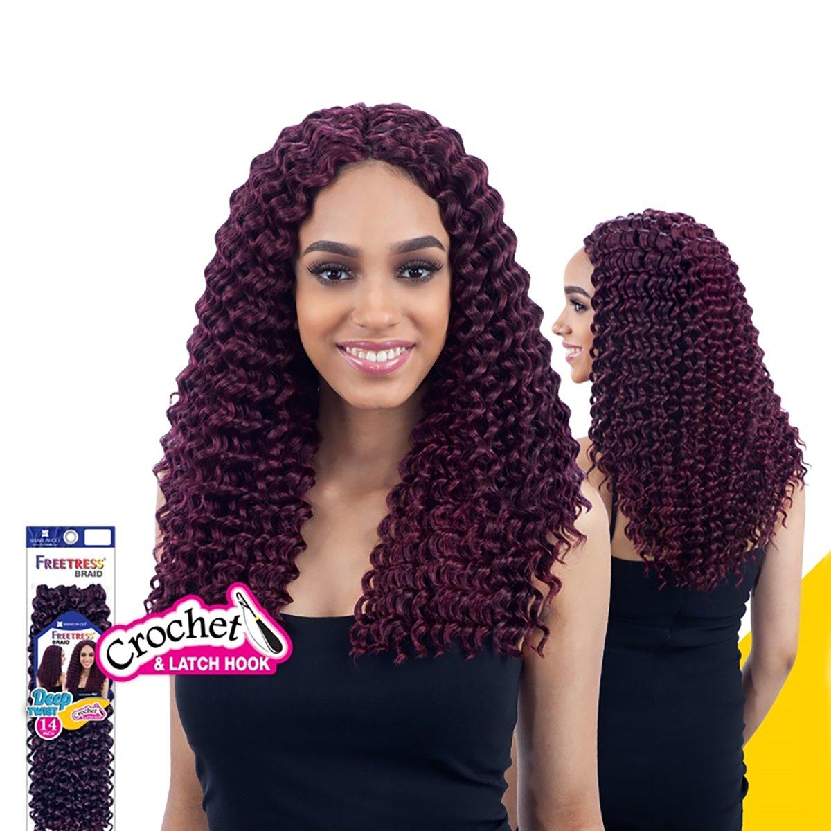 Amazon Com Deep Twist 14 1 Jet Black Freetress Synthetic Hair Crochet Braid Beauty
