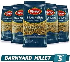 Manna Barnyard Millet Pack of 5 (500g Each) - Khira / Swank / Kuthiraivally / Udalu / Kodisama / siridhanya