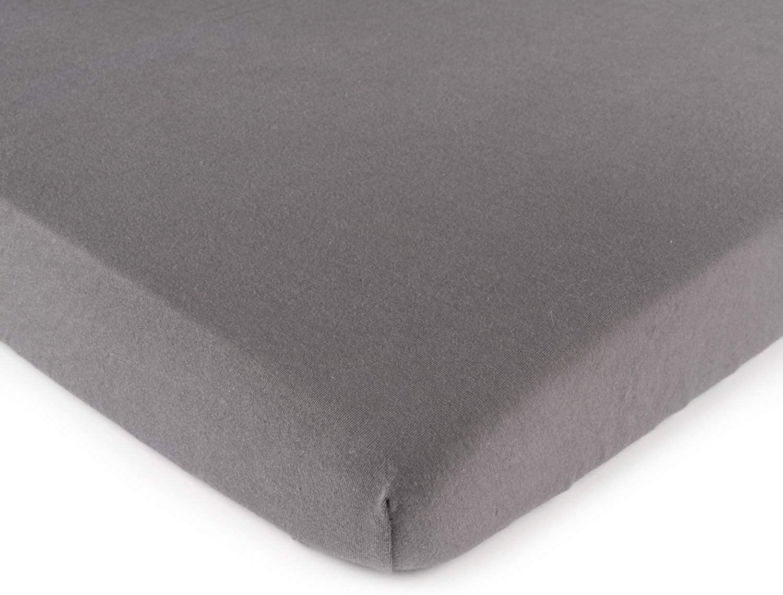 SheetWorld Square Playard (Fits Joovy) Sheet, Dark Grey Jersey Knit, 37.5 x 37.5-Inch