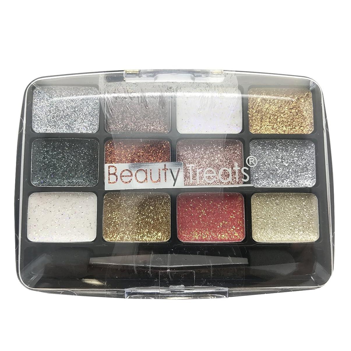 新しい意味天窓農夫(3 Pack) BEAUTY TREATS 12 Colors Glitter Palette - Gemstone (並行輸入品)
