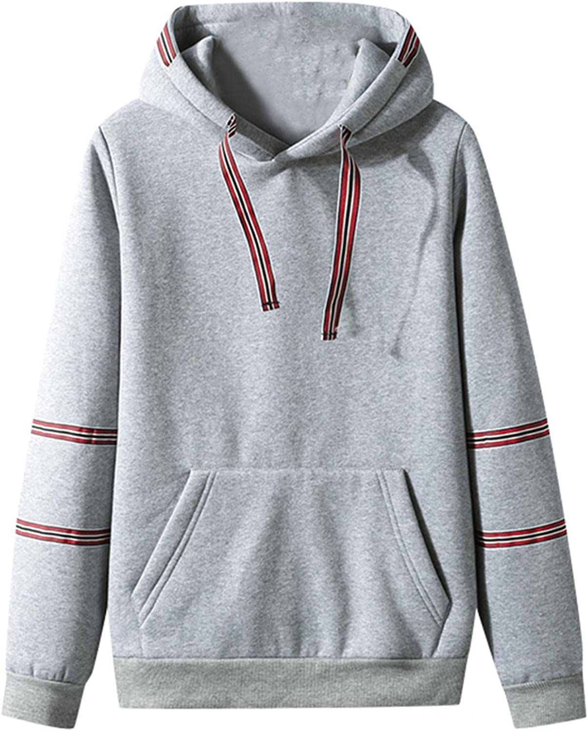 Hoodies for Men Stripe Fashion Mens Athletic Hoodies Casual Loose Long Sleeve Sweatshirt Workout Sports Gym Pullover