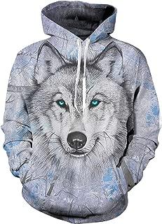 Unisex 3D Print Funny Graphic Velvet Pullover Drawstring Hoodies with Big Pockets Sweatshirts