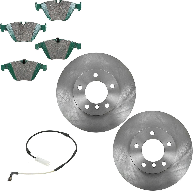 Disc 5 ☆ popular Brake Rotor Limited time sale Premium Posi Ceramic Front Kit Pad f Sensor w