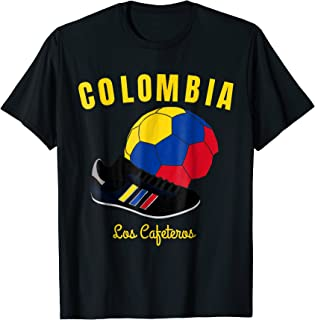 Soccer Colombia Flag T-Shirt Colombian Flags Football Jersey