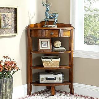 Jazi Zuhause/Möbel/Wohnzimmer Dekoration Laptop Tisch Gummi Holz Nussbaum Farbe Open Style Storage Side Cabinet Wohnzimmer Schlafzimmer Eckschränke Drop-Leaf Tisch