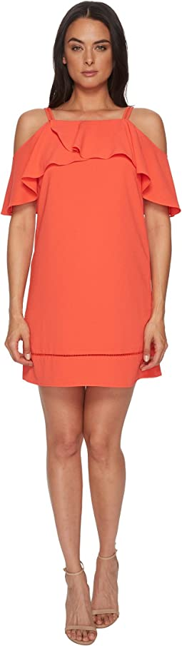 Maggy London - 30s Crepe Cold Shoulder Shift Dress