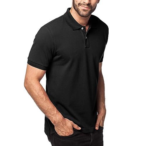efb5459d667 LAPASA Men s Polo Shirt Breathable - Original Pique Knit - Timeless Regular  Fit - M19