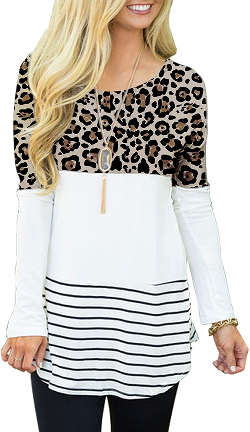 Sherosa Women's Casual Max 74% OFF Color Block Lace Inset Shir Long Sleeve T Topics on TV