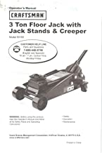 Sears Craftsman 3 Ton Floor Jack Owner's Operator's Manual Instructions Guide, Model 50188