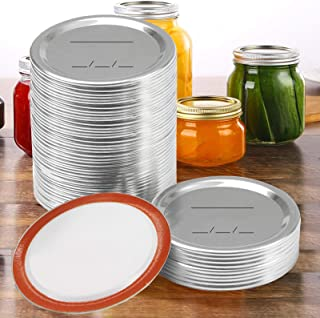 48 Pcs Canning Lids Regular Mouth - Mason Jar Lids with Silicone Seals Rings, Split-Type Leak Proof Canning Lids for Ball/...