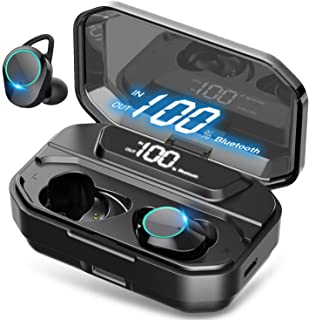 True Wireless Earbuds Bluetooth 5.0 Earphones IPX7 Waterproof Earphones for Sports with LED Display 110H Playtime 6D Stere...