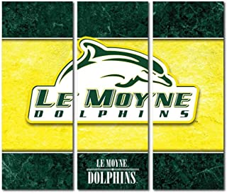 Victory Tailgate Le Moyne College Dolphins Triptych Canvas Wall Art Double Border