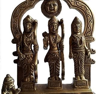 KVR Brass Hindu Religious Auspicious God Statue Shri Ram Sita Laxman Darbar (Ram Darbar-5)