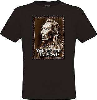 55c38a0b5c43e DarkArt-Designs Mode de Vie T-Shirt Indian Statement - Motif Indien  amérindien T