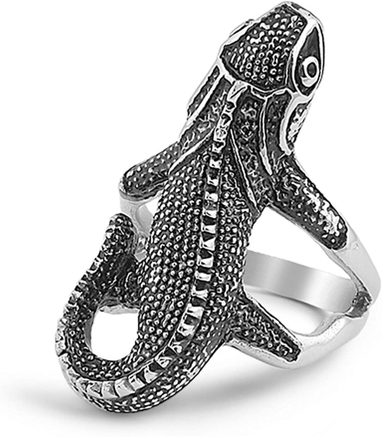 JewelryVolt Stainless Quantity limited Steel Animals Max 41% OFF Casted Ring