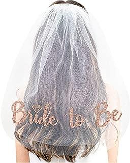 Rose Gold Print Bride To Be Veil Bachelorette Party Supplies Bridal Shower Decoration Accessories Gift Engagement Decoration