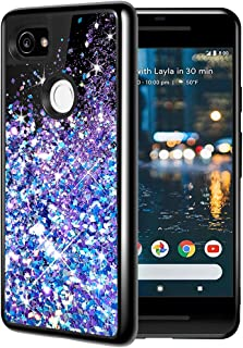Caka Google Pixel 2 XL Case, Google Pixel 2 XL Glitter Case Starry Night Series Luxury Fashion Bling Flowing Liquid Floati...
