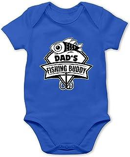 """Shirtracer - Sport Baby - Dad""""s Fishing Buddy - Baby Body Kurzarm für Jungen und Mädchen"""