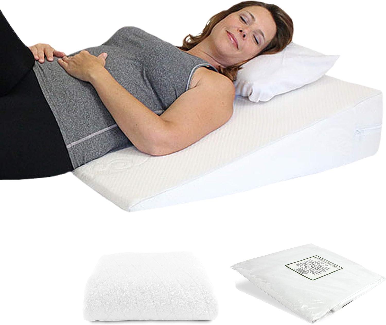"Acid クリアランスsale 期間限定 Reflux Wedge Pillow - US ""Plus"" Memory 安全 Made Foam Overlay"
