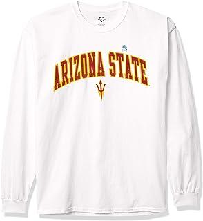 Elite Fan Shop NCAA Arizona State Sun Devils Mens White Arch Long Sleeve Tee, Arizona State Sun Devils White, XX-Large