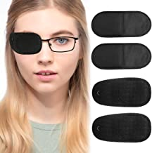 Eye Patch for Glasses - Eye Patches for Adults Left Right Eye to Treat Lazy Eye Amblyopia Strabismus Large Black 12 Pcs by...