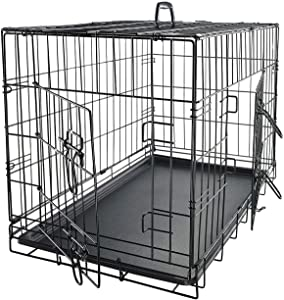 Paws & Pals Dog Crate Double-Door Folding Metal