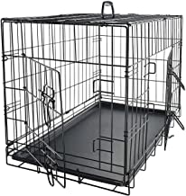Paws & Pals Dog Crate Double-Door Folding Metal - Wire Pet Cage w/Divider & Tray for Training Pet Supplies & Accessories -...