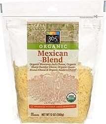 365 Everyday Value, Organic Shredded Mexican Cheese (Sharp Cheddar, MJ, Asadero, Queso Blanco), 12 o