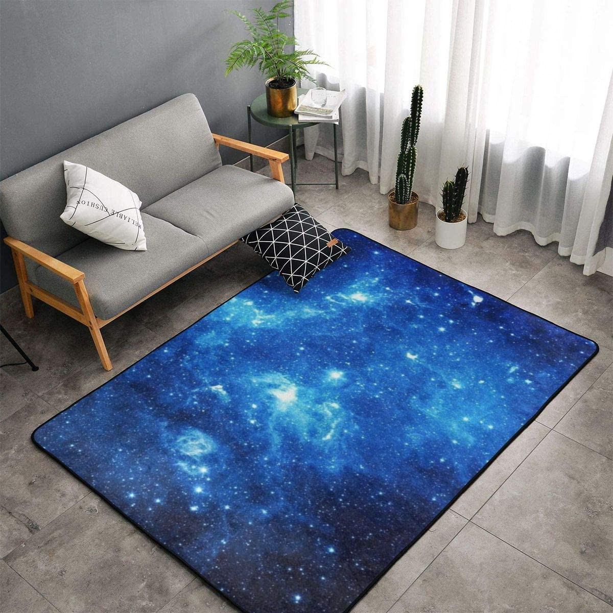 NiYoung Blue Galaxy Area Rug SALENEW very popular! D Popular standard Kitchen Bedroom Room Living