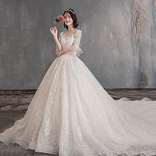 FTFTO Accessori per la casa Abito Elegante e Semplice - Winter Trailing Dream Princess Bride One Word Shoulder Lace Manica...