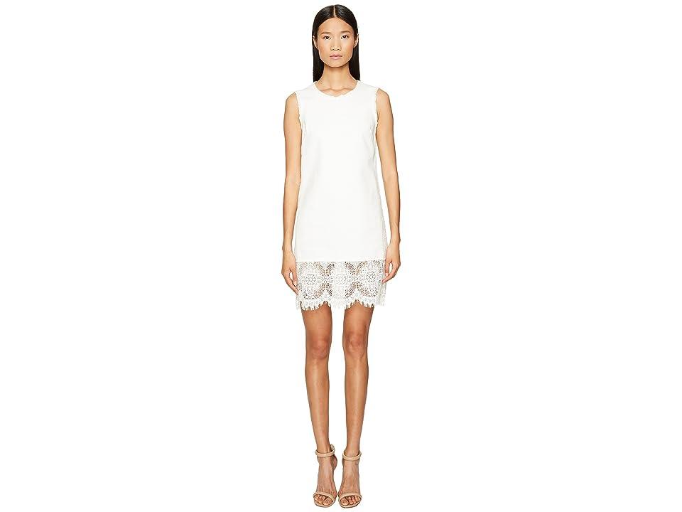 McQ Hybrid Short Lace Dress (Ivory) Women