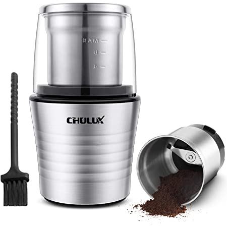 Electric Coffee Bean /& Spice Grinder,Two 2.5 Ounce Bowls-Stainless Steel Blades