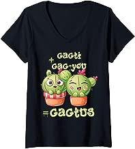 Womens Cacti + Cac-you = Cactus V-Neck T-Shirt