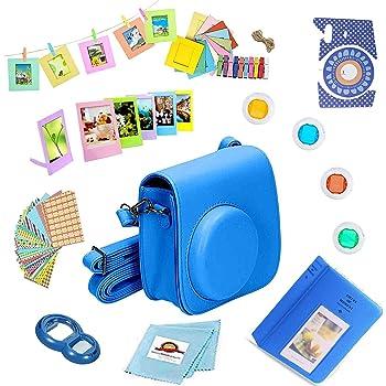 Mini 8 Includes; Case Cobalt Blue More Lens Filters Close-Up 44-Piece Accessory Bundle Instant Film Camera Compatible for Fujifilm Instax Mini 9 Photo Album Plastic Frames Mini 8+