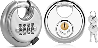Combination Lock and Storage Lock with 4 Keys