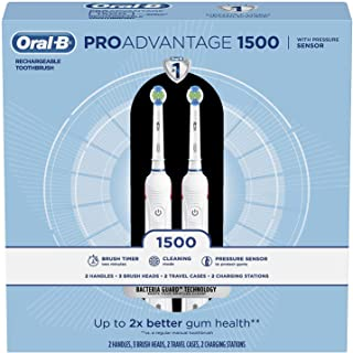 Oral-B ProAdvantage 1500 Electric Rechargeable Toothbrush, Powered by Braun (2 pk.)