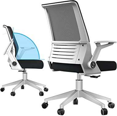 Ergonomic Task Office Chair, Office Chair with Flip-Up Arms, Armrest Rotated 90° to Relax Muscles, Comfortable Computer Chair