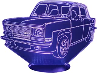 SIMCA RALLYE 3, Lampada illusione 3D con LED - 7 colori.