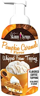 Jordan's Skinny Syrups Pumpkin Caramel Whipped Foam Topping,16 Ounce