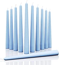 CANDWAX 8 inch Taper Candles Set of 12 - Dinner Candles Dripless - Tall Candles Long Burning Perfect for Dinner, Party or ...