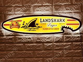 Desung Revolutionary Landshark Lager Surfboard LED Neon Light Sign Vivid Printing Tech Design Decorate 3rd Generation LED Sign 32''