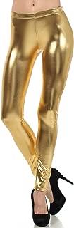 Sakkas Footless Liquid Wet Look Shiny Metallic Stretch Leggings
